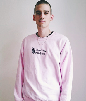 Search Yiu - Sweater - Prachtnelke (pink, bestickt)