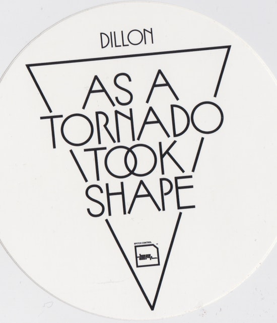 Dillon - As a Tornado Took Shape B/W [Sticker]