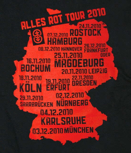 "Silly - ""Tour 2010"" Girlie Shirt (rote Schrift)"