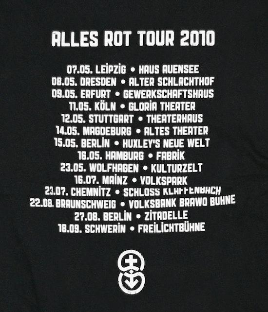 """Silly - """"Tour 2010"""" Girlie Shirt (weiße Schrift)"""