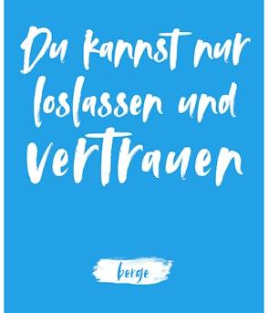 """Berge - Postkarte """"Du kannst nur loslassen und vertrauen"""""""