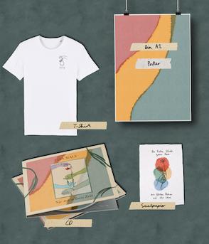 "T-Shirt Bundle: CD ""Nie zur selben Zeit"" | Print | T-Shirt (unisex)"