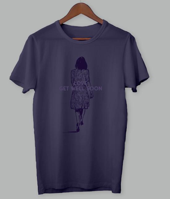 Burgundy Love Girl Shirt