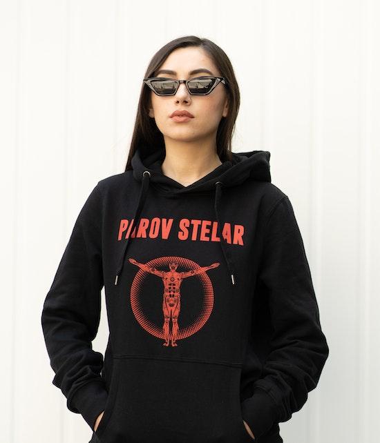 PAROV STELAR - Unisex Hoodie Black Red Robo Print