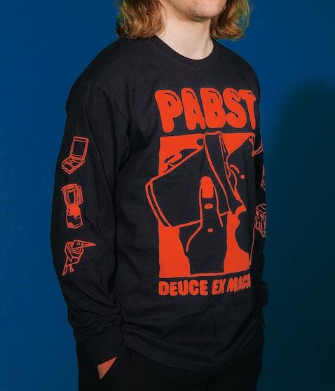 Pabst - Sippy Cup black/orange Longsleeve