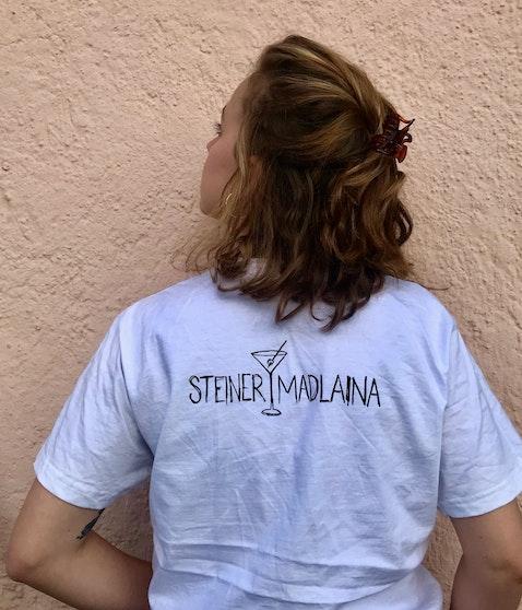Steiner & Madlaina - Cheers Shirt WEISS